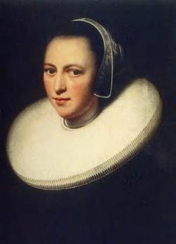 深襞襟を着た女性の肖像 レンブラント.jpg